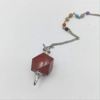 pendule en jaspe rouge