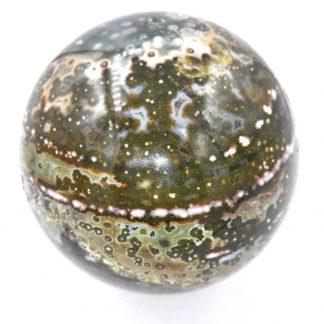 sphère pierre naturelle jaspe orbiculaire