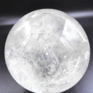 sphère cristal de roche quartz