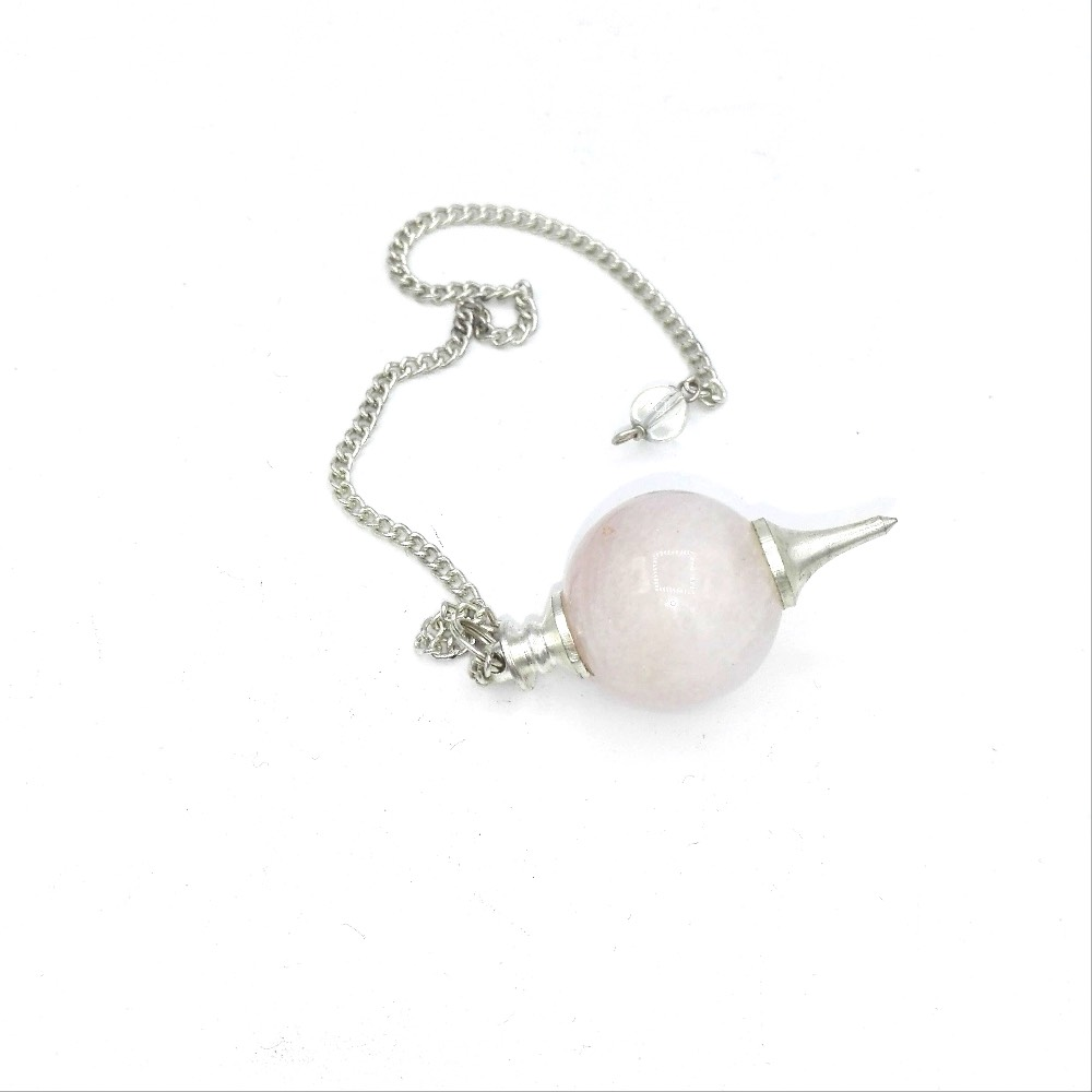 Pendule En Quartz Rose Naturel Crystal Et Lumiere